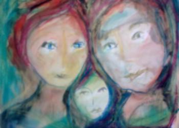 Riitta Ahos teki mökkiinsä taidenäyttelyn Joutsenon Karsturannassa – mitä hän tuumaaa taiteestaan?